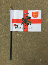 HAND WAVING FLAG (SMALL) - ST GEORGE CHARGER